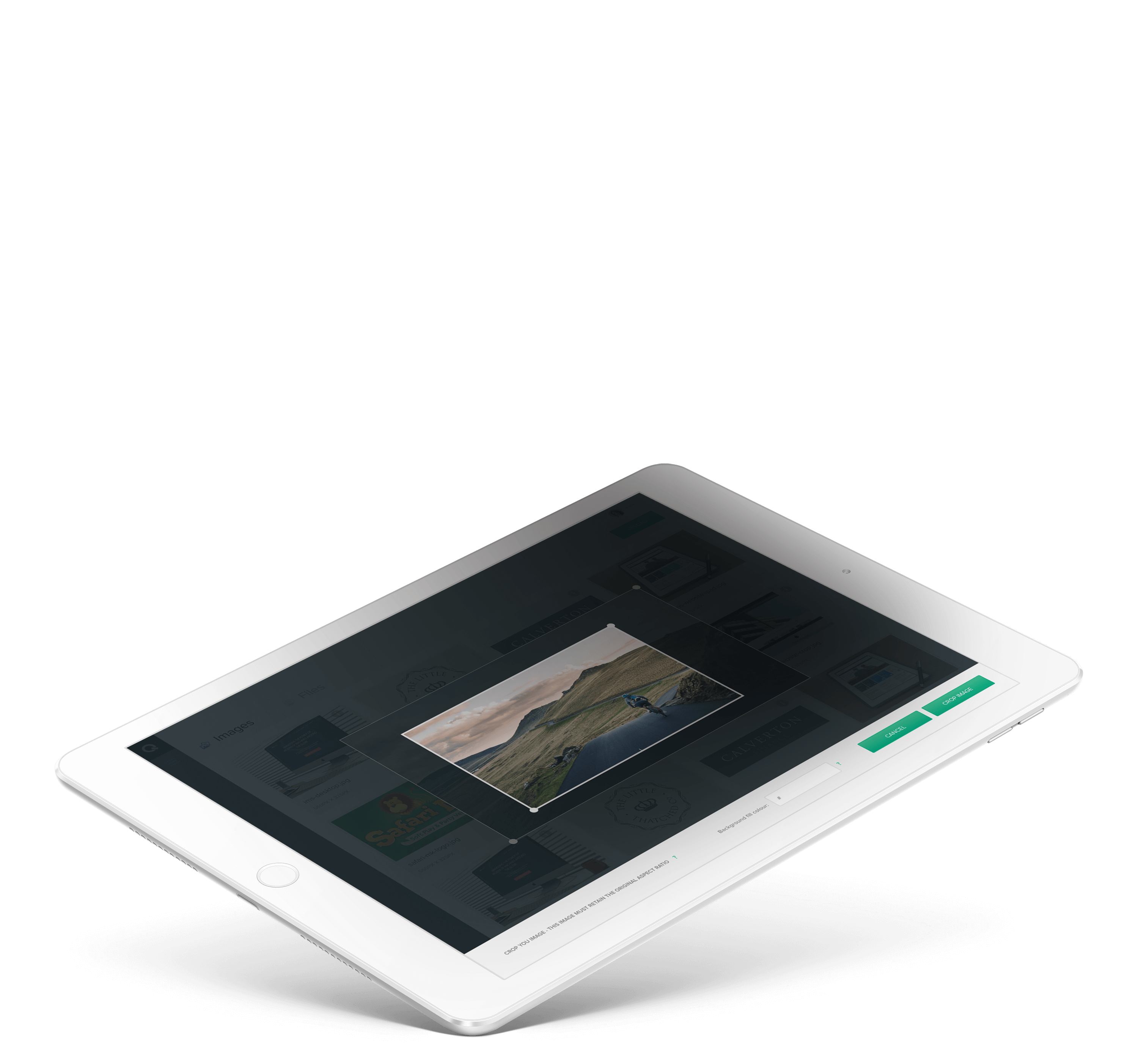 UI design on tablet mock up