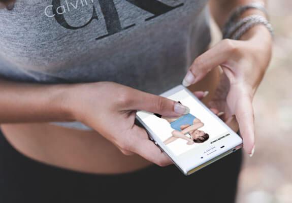 exercise prescriber ui on smartphone