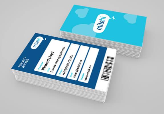 milehi branding on boarding pass