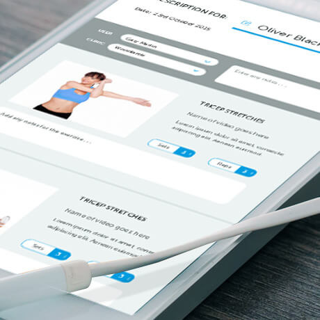 exercise prescriber web app