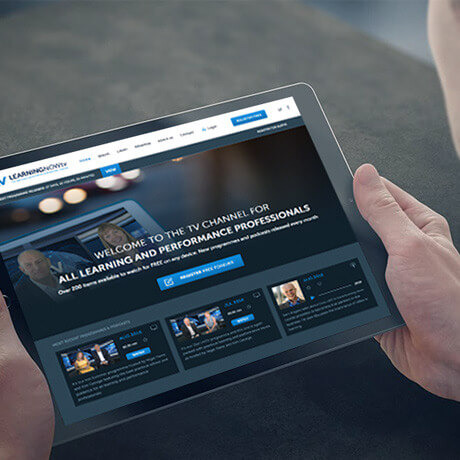 lntv website on tablet