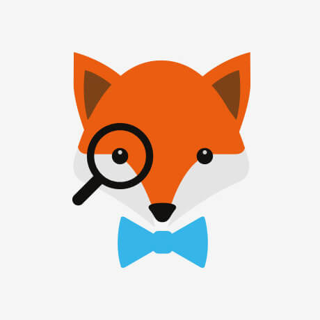 wedding fox avatar design