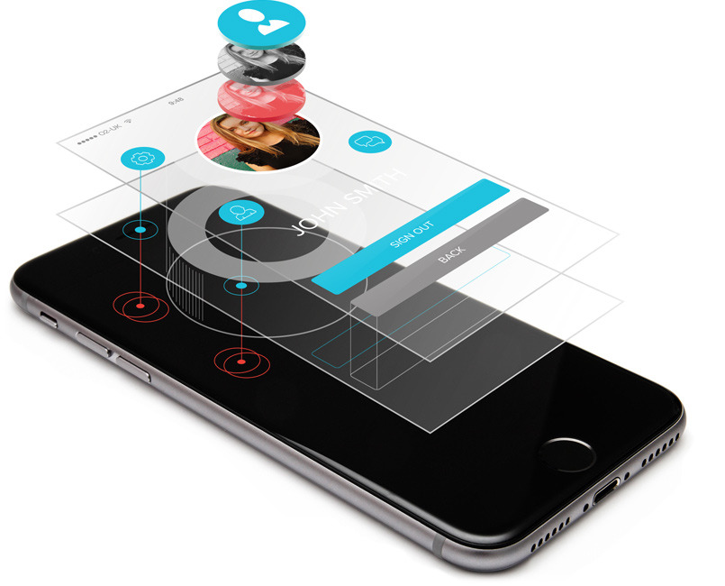 user interface design smartphone mock up