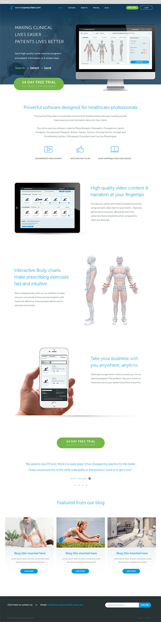 exercise web page design