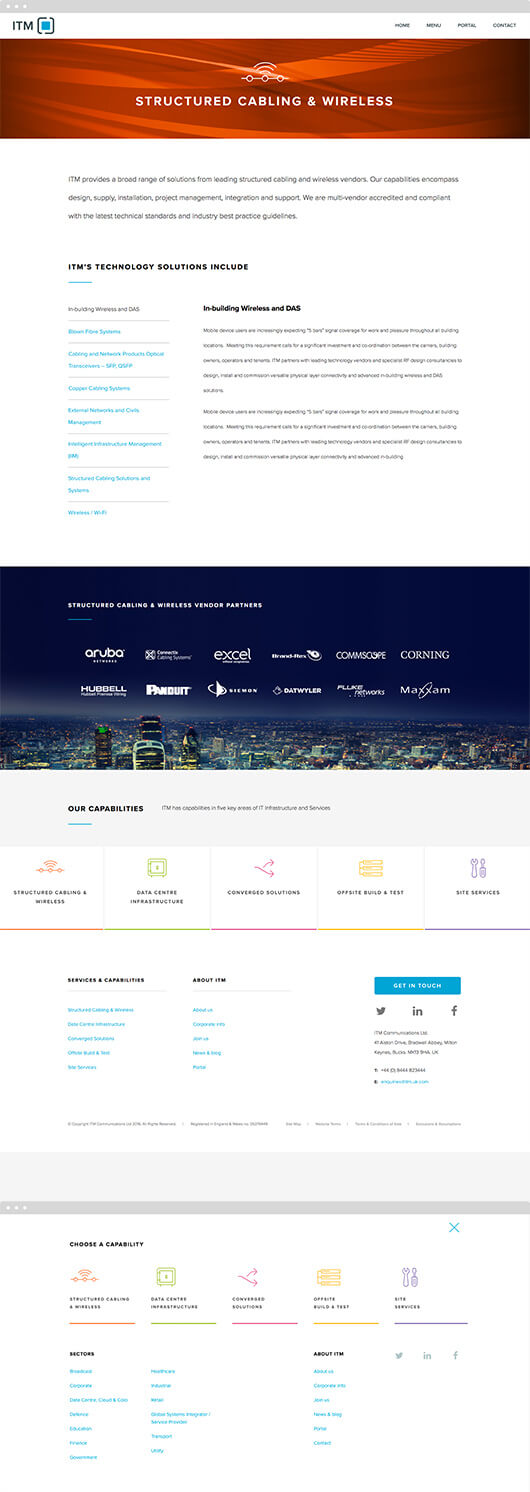 itm web pages in mock up