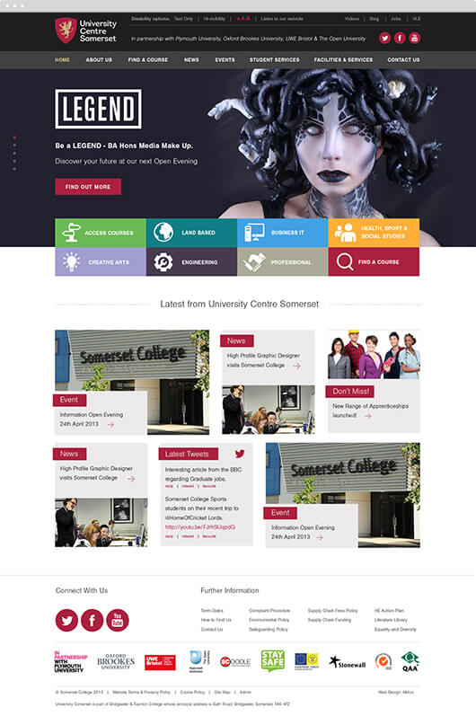 ucs home page design