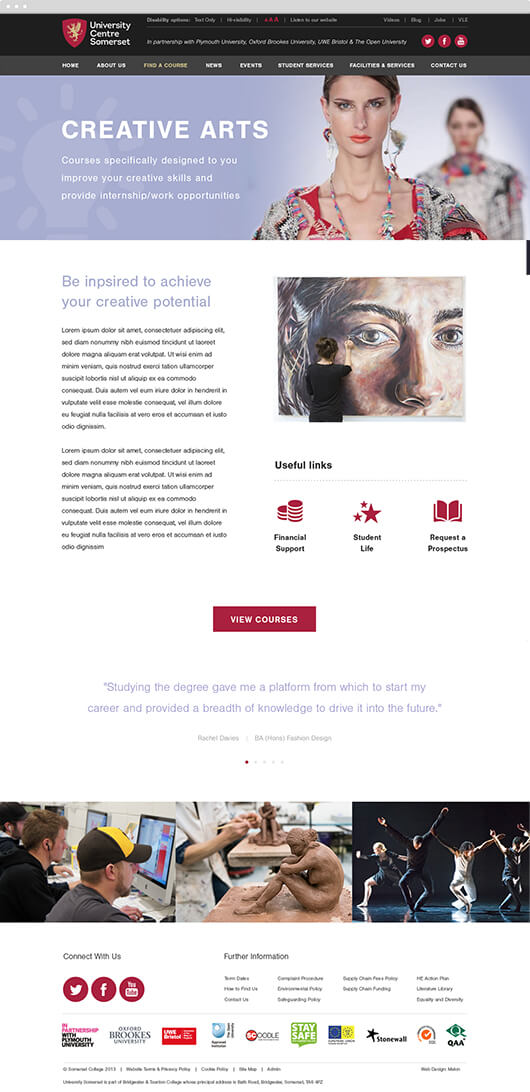 ucs web page design