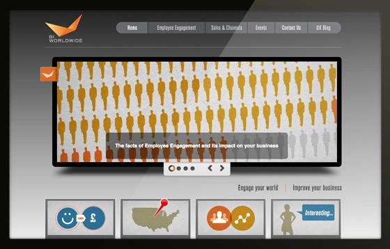 BI Worldwide enage your world microsite home page portfolio