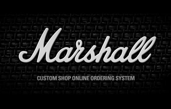 Marshall Custom Shop online ordering system