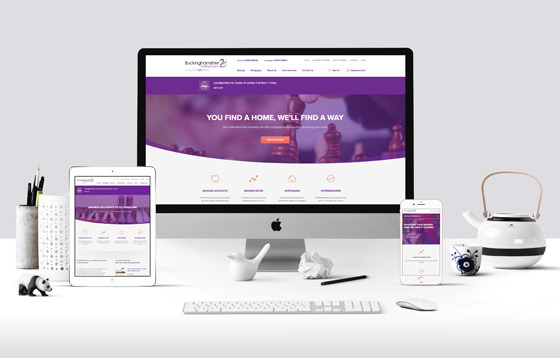 bucks building society web design mock up