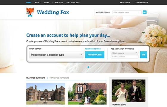 wedding fox web design